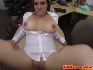 Bigtit pawnshop amateur fucked hard for extra cash