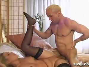 Loving couple having romantic sex