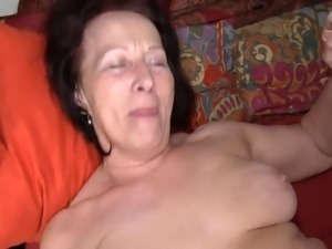 Ugly granny with flabby body & very saggy tits!