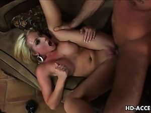 Blonde bombshell Shawna Lenee gets her pussy drilled