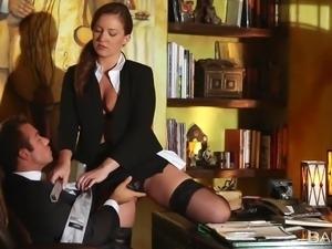 horny employee seducing her boss