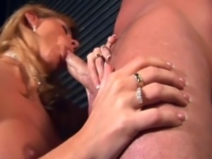 Older blonde mom adores cock in her eager mouth