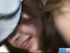 Japanese hottie Suzanna pounded hard and cum loaded