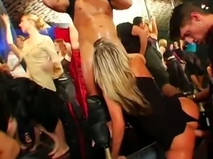Nasty club orgy is full of wild and horny bitches