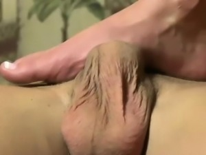 Rough tugging femdom feet await