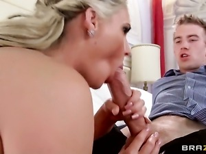 Danny D gets turned on by Phoenix Marie with big jugs and then fucks her...