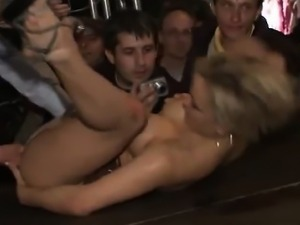 Public orgasms blonde beauty Minouche