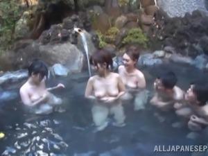 an orgy in a onsen