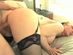 Blonde milf Nina Hartley gets banged hard