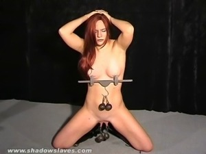 Extreme pussy torture and nipple clamps of debutant amateur slaveslut Chaos...