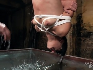 bitch restrained, whipped and drowned
