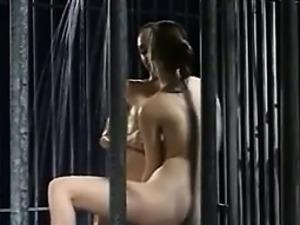 Four gorgeous lesbian prisoners have lots of fun german go 3