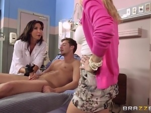 patient getting treated by busty doctor