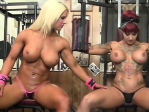 Dani Andrews and Megan Avalon Muscle Lesbians Again