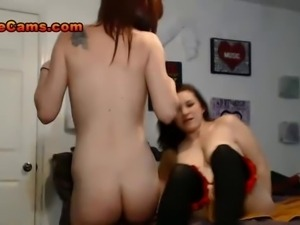 Sexy Petite Redhead Girl Joins An Hot Amateur Couple For A Threesome Fuck...