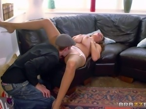 Milf Sensual Jane is a gorgeous woman with massive natural tits. Danny D rubs...