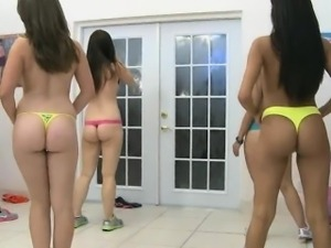 College Girls Topless At Start of Sorority Hazing Party