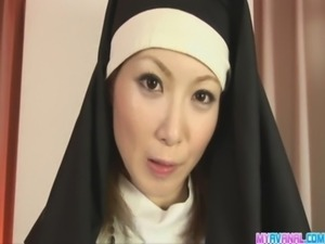 Unholy nun fucking Rika Sakurai gets it in the ass free