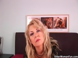 Grandma in lust gets fucked by sons friend free