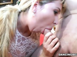 Fascinating sexy hottie gets her mouth attacked by guys sturdy dick