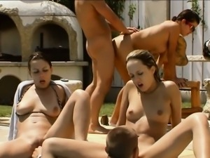 Teen group suck and fuck