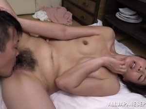 japanese lady has her hairy vagina fingered so deeply