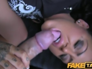 FakeTaxi Tattooed hottie fucked in taxi