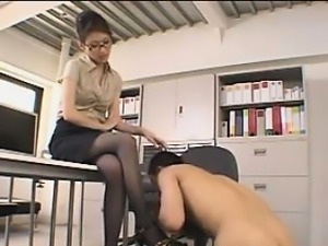 Office Strapon Fucking