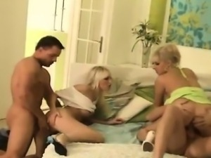 Daria Glower and Lena Cova in a Hot Foursome