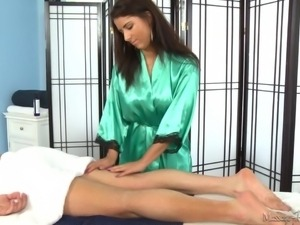 she knows how to give more than just a nice massage
