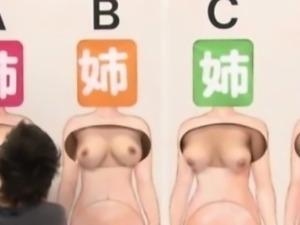 Bizarre asian gameshow fingering action
