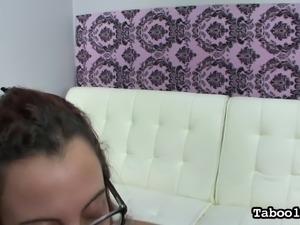 hot slut gets on her knees for cock