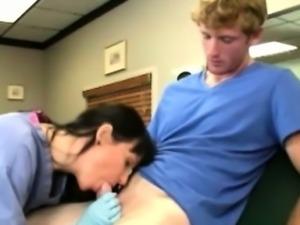 Cougar nurse sucking patients cock