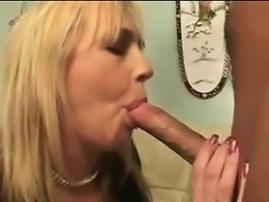 Mature Blonde Sucks And Gets Fucked
