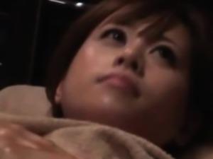 Asian teen at massage studio enjoying time