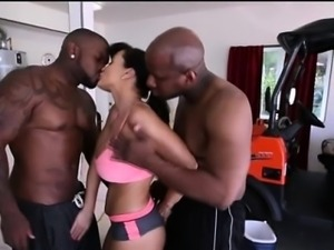 Lisa Ann gets interracial gangbanged