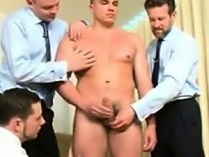 Straight Guy Rubbed By Three Gay Guys