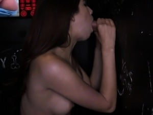 Beautiful Ava Taylor in a glory hole