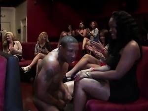 Older Women Go Nuts Over Striptease And Big Black Cock