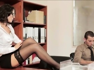 Alexa Tomas fucked by boss in the office