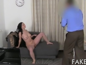 Sensational cock pleasuring