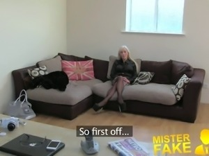 MisterFake Dirty hot blonde loves a bit of anal sex