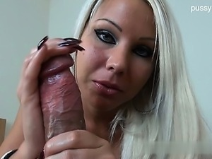 Busty student   cumshot in mouth