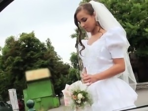 Runaway Bride Amirah gets strangers cock