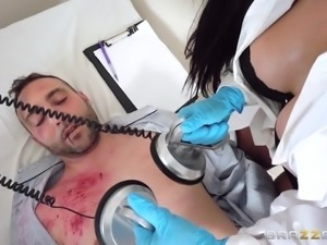 doctor makes accident victim feel better