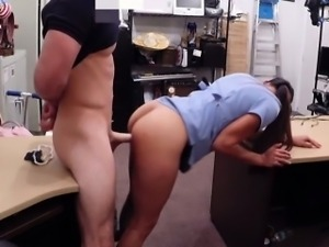 Babe in glasses needs money got fucked in the pawnshop