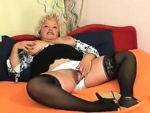 Big-breasted furry vagina grandma