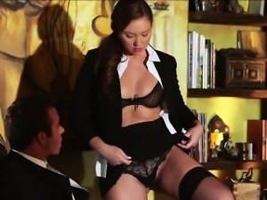 Secretary loves riding in his boss cock