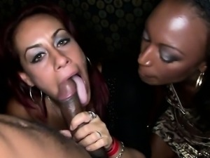 Thirsty Cougars Sipping On Big Black Cock