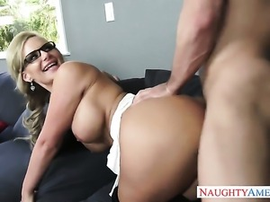 Johnny Castle uses his stiff rod to make Phoenix Marie happy